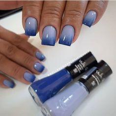 Beautiful Nail Designs, Blue Nails, Manicure And Pedicure, Nail Colors, Acrylic Nails, Nail Polish, Nail Art, Instagram, Manicures