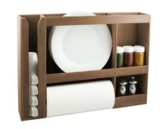 If you have a tiny kitchen, or you're going minimalist...this is for you. SeaTeak 62402 Dish/Cup/Spice/Towel Rack