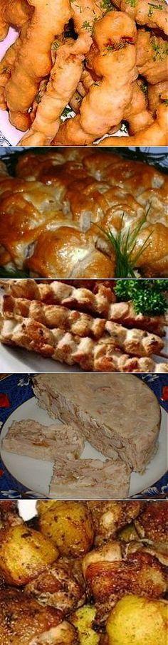 De 20 platos rápidos y sabrosos de la gallina en un puesto.