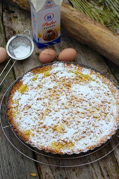 original-italienische-torta-della-nonna Baking Recipes, Cake Recipes, Fun Cupcakes, No Bake Desserts, No Bake Cake, Baked Goods, Cravings, Food Porn, Food And Drink
