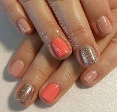 Gorgeous Nail Designs For Special Events Fancy Nails, Love Nails, Trendy Nails, How To Do Nails, Fill In Nails, Shellac Nails, Diy Nails, Nail Polish, Glitter Nails
