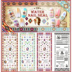 $1.99 # 21536 (1 Sheet) Tribal Patterns Water Decals Nail Art Stickers -***10% Off code = GAWH10 #BornPrettyStore***  BornPrettyStore.com
