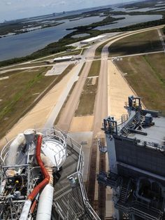 View from atop the Shuttle Launch Gantry - approximately 300' above Sea Level - looking out on the Crawlerway