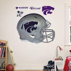 Fathead Kansas State Wildcats Helmet Wall Decals, Multicolor