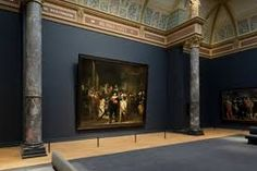 Rembrandt's famous Nightwatch painting in a renovated Rijksmuseum