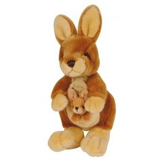 Small Stuffed Kangaroo and Baby