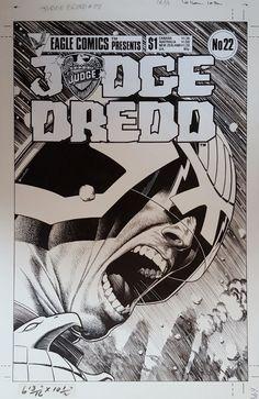 Brian Bolland - Judge Dredd #22 Cover (Eagle, 1985) Comic Art