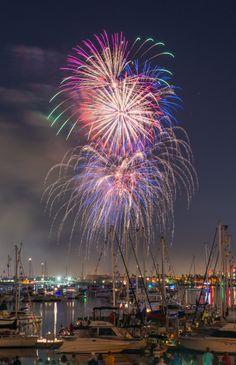 Fireworks at Glorietta Bay, Coronado, Greater San Diego Region