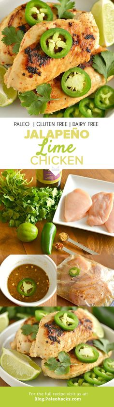 Say goodbye to plain chicken and hello to this mouthwatering Jalapeno Lime Chicken recipe that's easy, healthy and delicious. All clean eating ingredients are used for this high protein chicken recipe. Detox Recipes, Paleo Recipes, Mexican Food Recipes, Cooking Recipes, Zoodle Recipes, Easy Cooking, Delicious Recipes, Easy Recipes, Lime Chicken Recipes