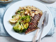 Spice up your classic steak and veggies dish and instead, serve with zesty, chilli broccoli, slices of fragrant toasted garlic and some quick and easy rice.