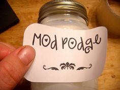 recipe to make mod podge--both glossy and matte