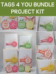 Stampin' Up! Tags 4 You simple cards and photo place holders created by Hand Stamped Style, THANKS for checking out my PIN for more info vis...