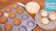 "Salted Caramel Cupcake Sponge | Cupcake  Jemma    125 unsalted butter 50g dark soft brown sugar 75g caster sugar 125g self raising flour 1/4 tsp bicarbonate of soda 1/4 tsp vanilla extract 2 lg eggs 1.5 tbs whole milk pinch of salt. Bake at 170 C for 22""-ish."