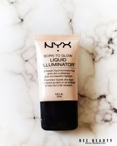 Favorite Highlighters For Pale Skin – Drugstore Edition – Bee Beauty - Care - Skin care , beauty ideas and skin care tips Nyx Liquid Illuminator, Liquid Highlighter, Highlighter Makeup, Nyx Makeup, Makeup Swatches, Makeup Hacks, Makeup Must Haves, Makeup To Buy, Highlighters For Pale Skin