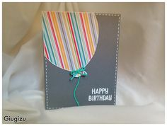 Giugizu's corner: Handmade Flying Balloon birthday card - Biglietto di auguri fai da te con palloncino