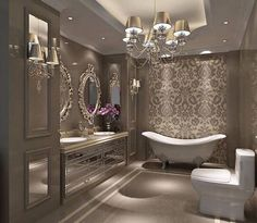 Now this is what I call luxe. I could definitely soak for a long, long time in that bath