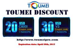 "Toumei Official site (http://www.toumeipro.com)  have a good news for Toumei fans, whether you like Toumei C800i or Toumei V3 projector, you can enjoy a great discount, there are two coupons for you, the code ""17M20CPN"" for C800i Pocket Projector, you can save 20 USD, and the code ""17M30CPN"" for Toumei V3 smart 3D Projector, you can save 30 USD. don't forget the expiration date is April 30th, 2017, hope you can enjoy it! #Toumei #C800i #V3 #Discount #CouponCode #Coupons #3DProjector…"