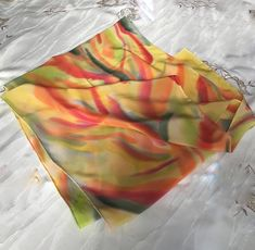 Silk paintings, hand-painted silk scarves and ties by TatianaYoungSilks Silk Art, Shades Of Yellow, Silk Painting, Silk Scarves, Pure Silk, Autumn Colours, Hand Painted, Orange Yellow, The Originals
