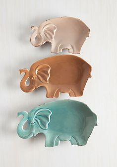 Pachyderm Party Plate Set. At your next dinner party, serve up some appetizers on this adorable plate set! #multi #modcloth