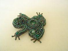 Mania koralikowania czyli moje rękodzieło: Zielone rivoli.