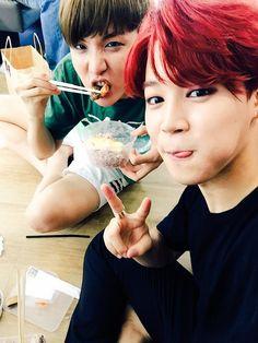 J-Hope & Jimin - BTS Twitter[150704]   btsdiary