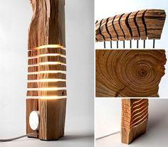 moderne Holz Skulptur Lampe Design Ideen Kollektion Etsy