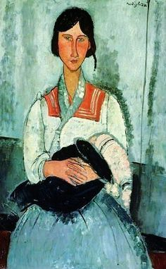 Modigliani Mother and Child