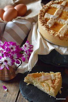 Ricetta classica in una variante davvero sfiziosa! #crostata con #ricotta, #cioccolato bianco e #fiordifruttaaranceamare!