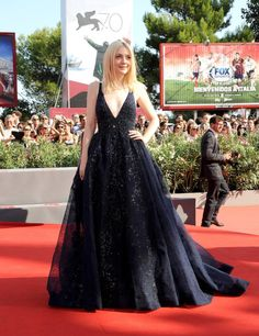 Dakota Fanning glittered in a dress from Elie Saab's Fall 2013 Couture collection @Molly Benson Film Festival