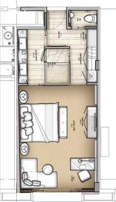 Typical Room with unique wet room layout