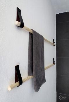 DIY towel holder upcycled belt