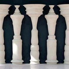 Greg Payce - Can you see the silhouettes created by alternating the different shaped vases?...amazing!