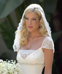 Tori Spelling was a traditional bride at her 2004 wedding to first ...