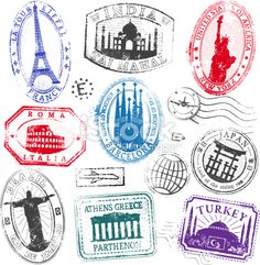 countries of the world - passport stamps collect them all - Google Search
