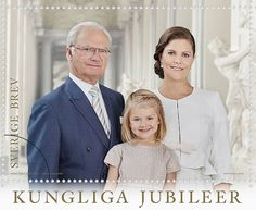 New stamps of the Swedish Royal Family to mark the 70th birthday of  King Carl Gustaf and the 40th anniversary of the Sovereigns' marriage.