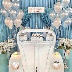 WEBSTA @ pontoapontoo - Decor @derinpartievi#fusca#fuscao#bolo#mesadebolo #cenario#mdf#perfect #perrieedwards  #dulce#fiesta #fuscaclub #parabens#baloes #azul#prata#branco#decoracao#caixadedoces #caixadedecoracao #decoracaoinfantil #aniversario #eventos #cerimonial #festainternazionaledelladonna #personalizado #festademenina#chic#festapersonalizada #craft#lembrancinhaspersonalizadas