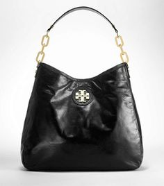 I saw a woman with this bag and it was fabulous!  I loved the classic styling and gold Tory logo.  Tory Burch - city HOBO
