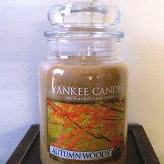 Yankee Candle Autumn Woods Large Jar 22 oz Single Wick Round #YankeeCandle