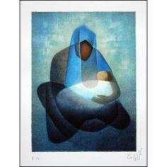 """TOFFOLI Louis - Lithographie Originale """"Douce Maternité"""""""