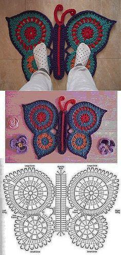 Crochet Freetress - How to Crochet For Beginners Crochet Mat, Crochet Carpet, Crochet Rug Patterns, Crochet Gratis, Crochet Diagram, Crochet Home, Irish Crochet, Crochet Doilies, Crochet Stitches