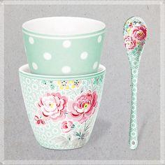 ♡ Petits prix d'hiver sur les jolies porcelaines GreenGate ♡ Boutique Les inutiles, Paris 3ème & www.lesinutiles.fr/98-greengate // Mugs, tasses, bols et cuillères en porcelaine.