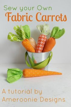 Sew Craft how to sew fabric carrots - Learn how to make a mini quilt with this free Springtime Showers Mini Quilt pattern. A great mini quilt pattern for a beginner, learn how to quilt and make flying geese blocks. Easter Projects, Easy Sewing Projects, Sewing Projects For Beginners, Diy Craft Projects, Easter Crafts, Sewing Hacks, Sewing Tips, Sewing Tutorials, Easter Decor