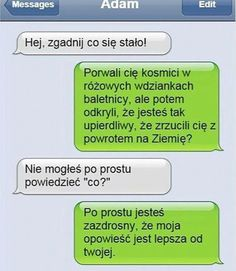 BESTY.pl - Śmieszek w książce #crazyfunnymemes Funny Sms, 9gag Funny, Funny Texts, Funny Friday Memes, Friday Humor, Monday Memes, Tumblr Messages, Funny Text Messages, Love Memes