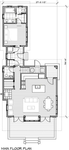 Cottage Style House Plan - 3 Beds 3.5 Baths 1704 Sq/Ft Plan #479-14 Floor Plan - Main Floor Plan - Houseplans.com
