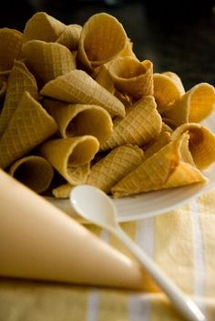 Waffle Cone Recipe on Pinterest | Frozen Custard Recipes ...