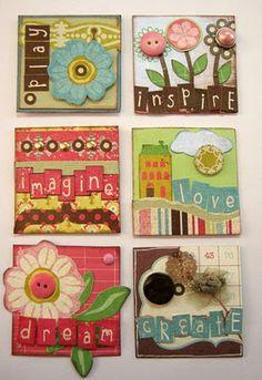 journal, design team, paper craft, magnets, art, card, mini magnet, scrapbook, twinchi