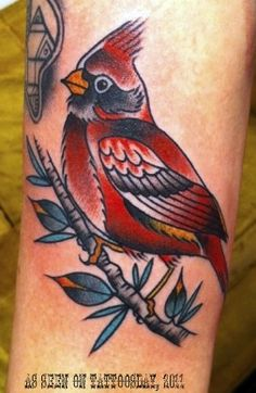 Tattoosday (A Tattoo Blog): October 2011. I would get this for my dad. He loves his damn cardinals! Lol