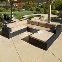 La Jolla 5pc Outdoor Wicker Seating Sofa Set