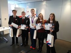 Winners from the Get Set National Paralympic Day Competition with London 2012 gold medallist Naomi Riches.