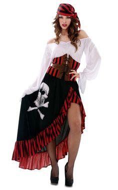 Vista principal del disfraz de pirata berberisco disponible en talla XS-S y M-L